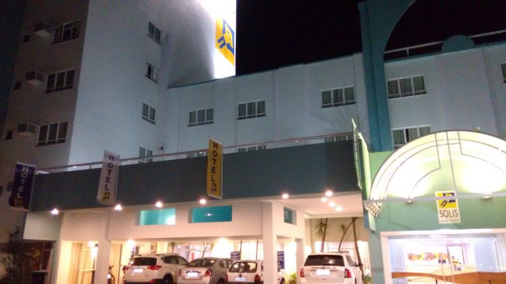 Fachada do Solis Praia Hotel