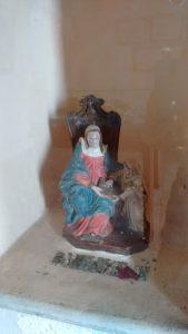 Imagem de de Santa Ana, no Forte de mesmo nome em Florianópolis.
