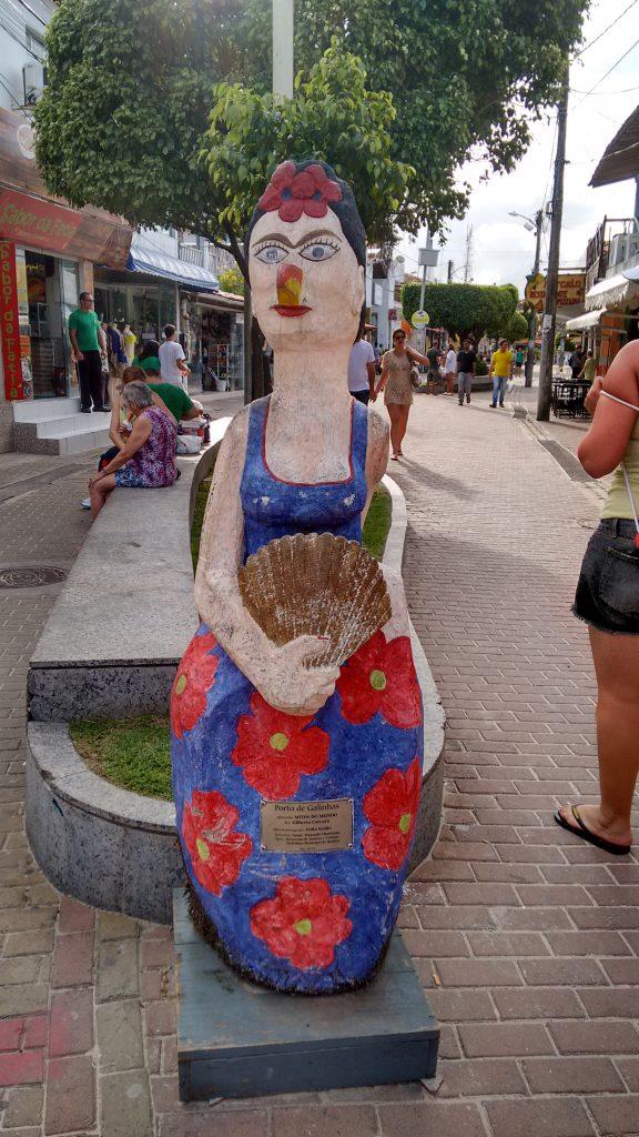 Frida kahlo e Amy pelas mão do artista Carcará