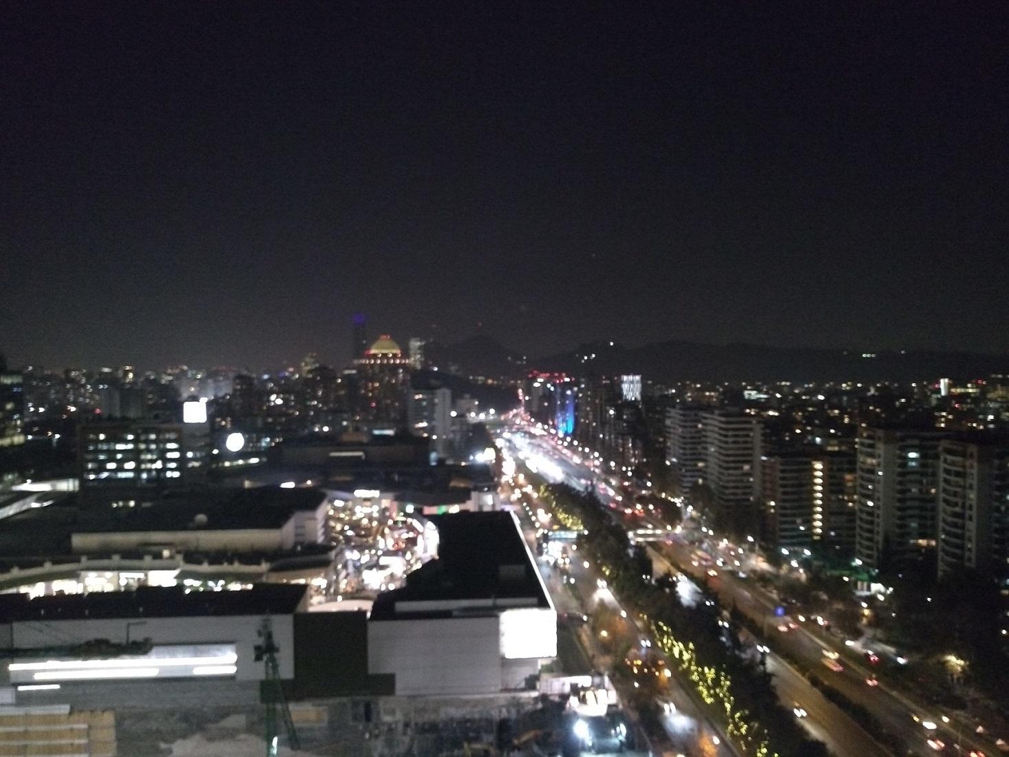 Santiago do Chile vista noturna de Las Condes