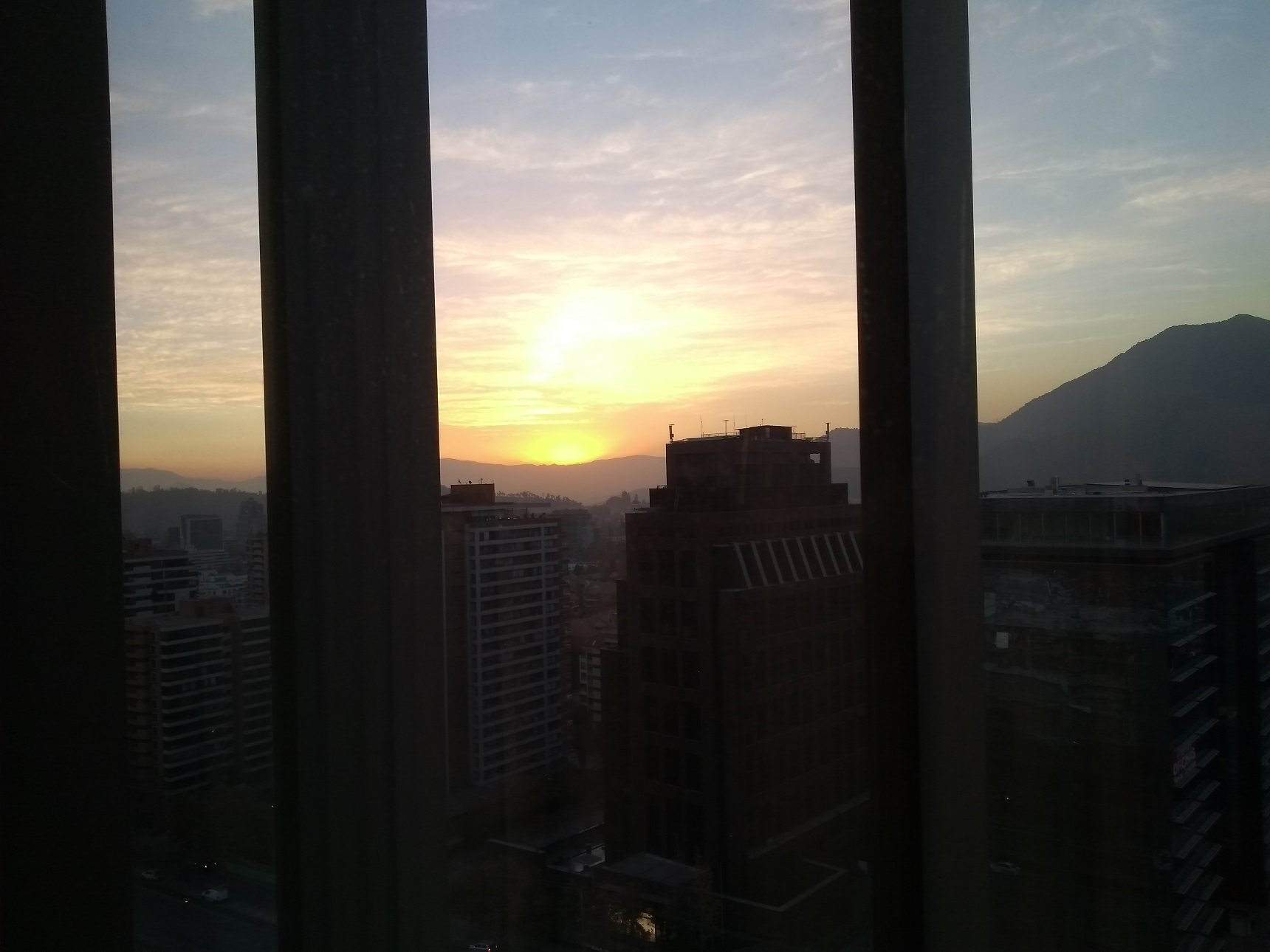 Santiago do Chile nascer do sol