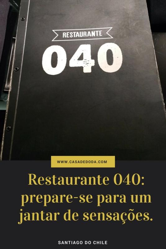 Restaurante 040 Santiago do Chile