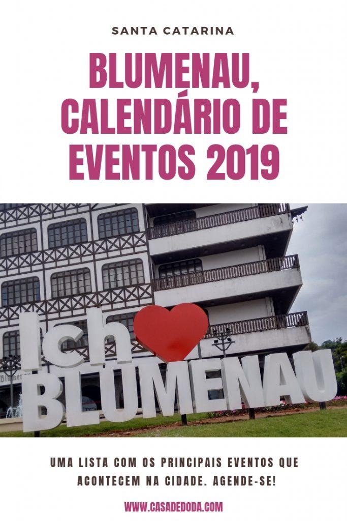 Calendário de Eventos Blumenau 2019