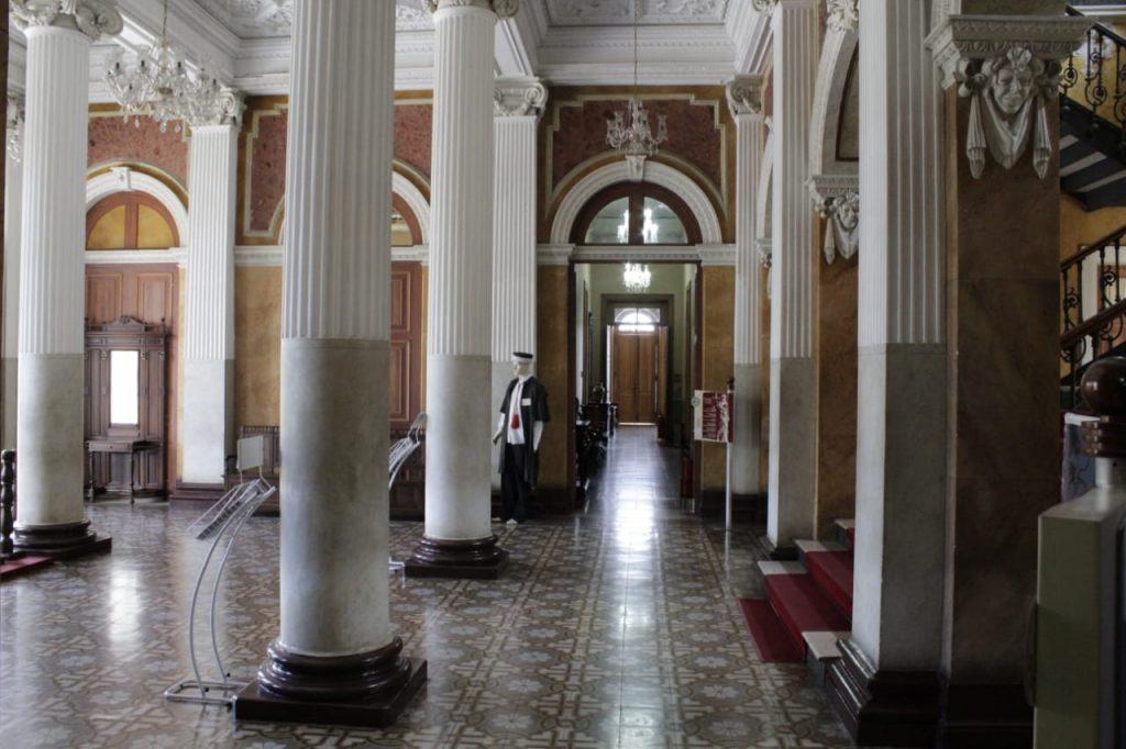 Detalhes do interior do prédio