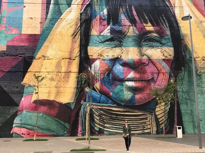 Mural Etnias, do artista Kobra, no Boulevard Olímpico, Rio de Janeiro
