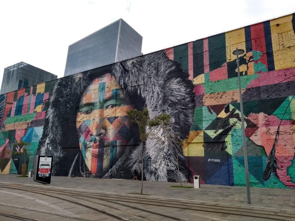 Mural Etnias, Boulevard Olímpico