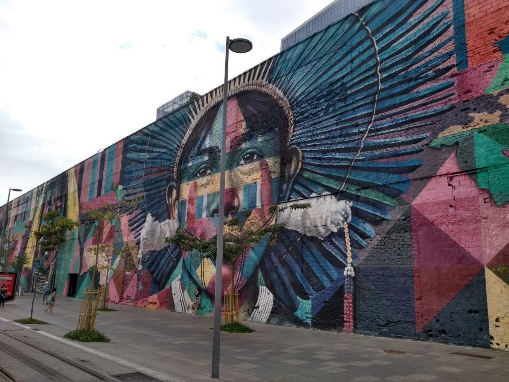 Mural Etnias, Boulevard Olímpico.