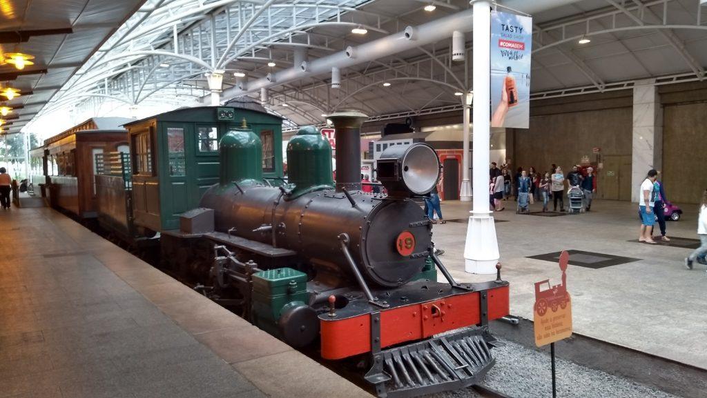 Museu Ferroviário de Curitiba, no Shopping Estação