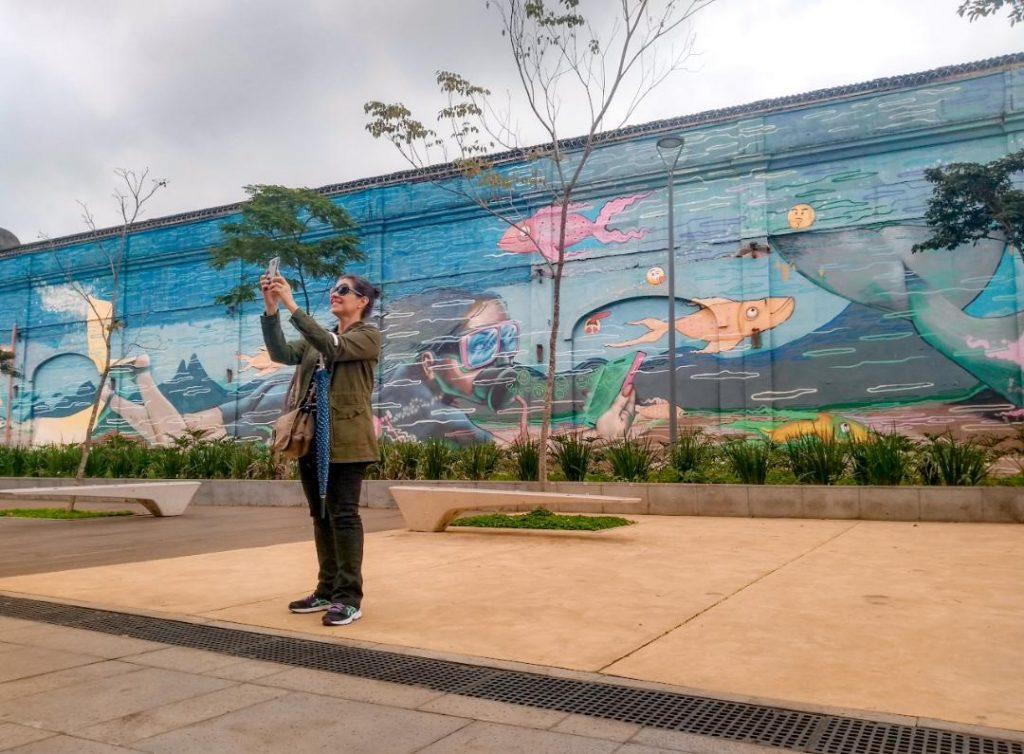 Um dos murais de grafite do Boulevard Olímpico